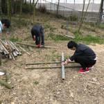 竹林間伐材肥料化の準備(1)