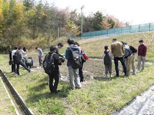 基礎演習での土壌調査4「実験ほ場」