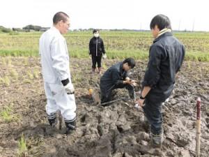 土壌調査の様子(3)