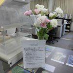 トルコギキョウを展示しています (5) コミュニティカレッジカウンター