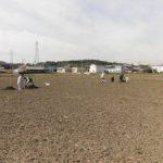 堂ヶ山町の水田で春の土壌調査を実施(1)