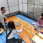 温泉水自動灌漑装置製作中(2)