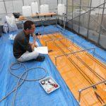 温泉水自動灌漑装置製作中(3)