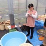イネ栽培実験用カラム設置(2)