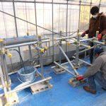 塩ビパイプ水耕栽培システム製作中(1)